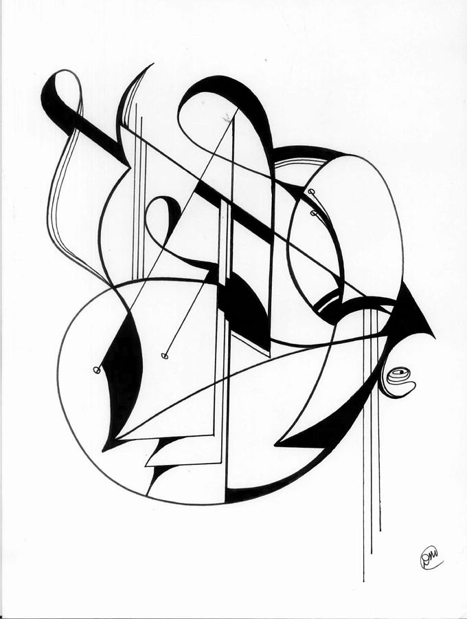 680x900 Souround Sound Drawing By Donna Martin