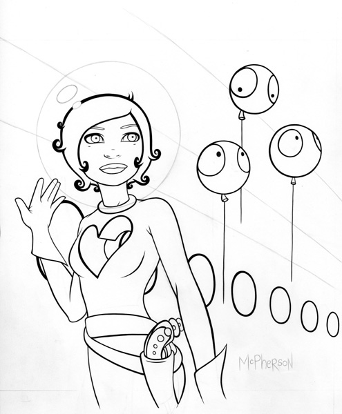 495x600 Tara Mcpherson Art Drawings Drawings The Dull Sound Inking