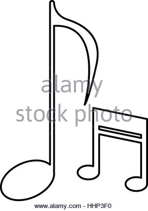 300x427 Drawing Note Music Sound Melody Icon Stock Vector Art