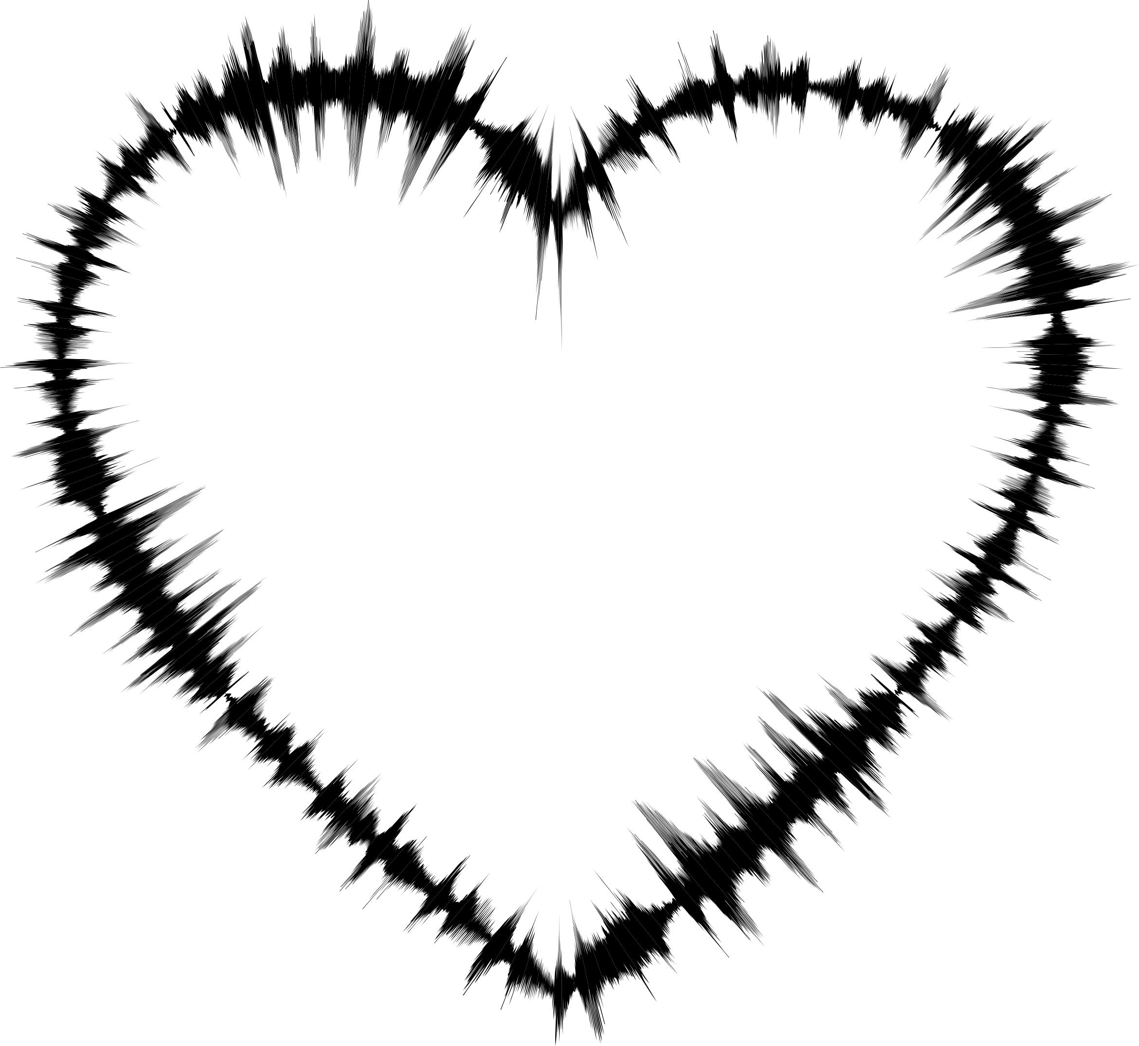 2341x2150 Sound Waves Heart Icons Png