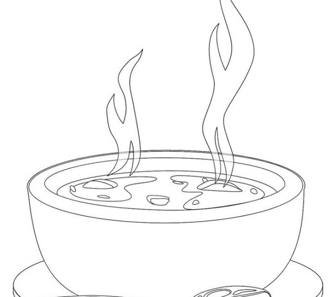 678x600 Soup Coloring Pages A Bowl Of Hot Soup Coloring Page Coloring