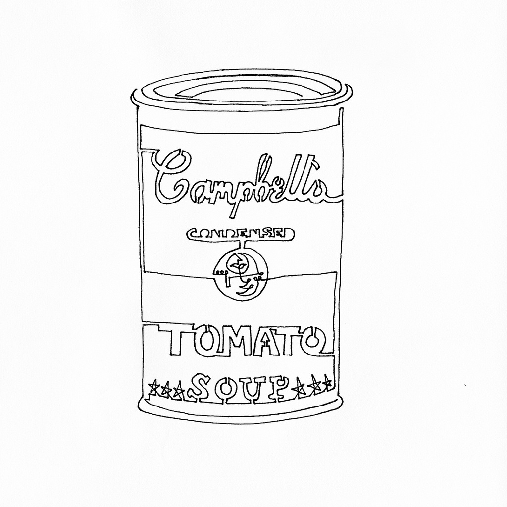 Soup Can Drawing At GetDrawings