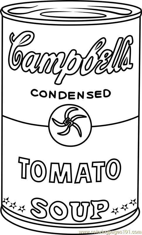 485x800 Soup Can Coloring Page Campbell's Soup Can Coloring Page
