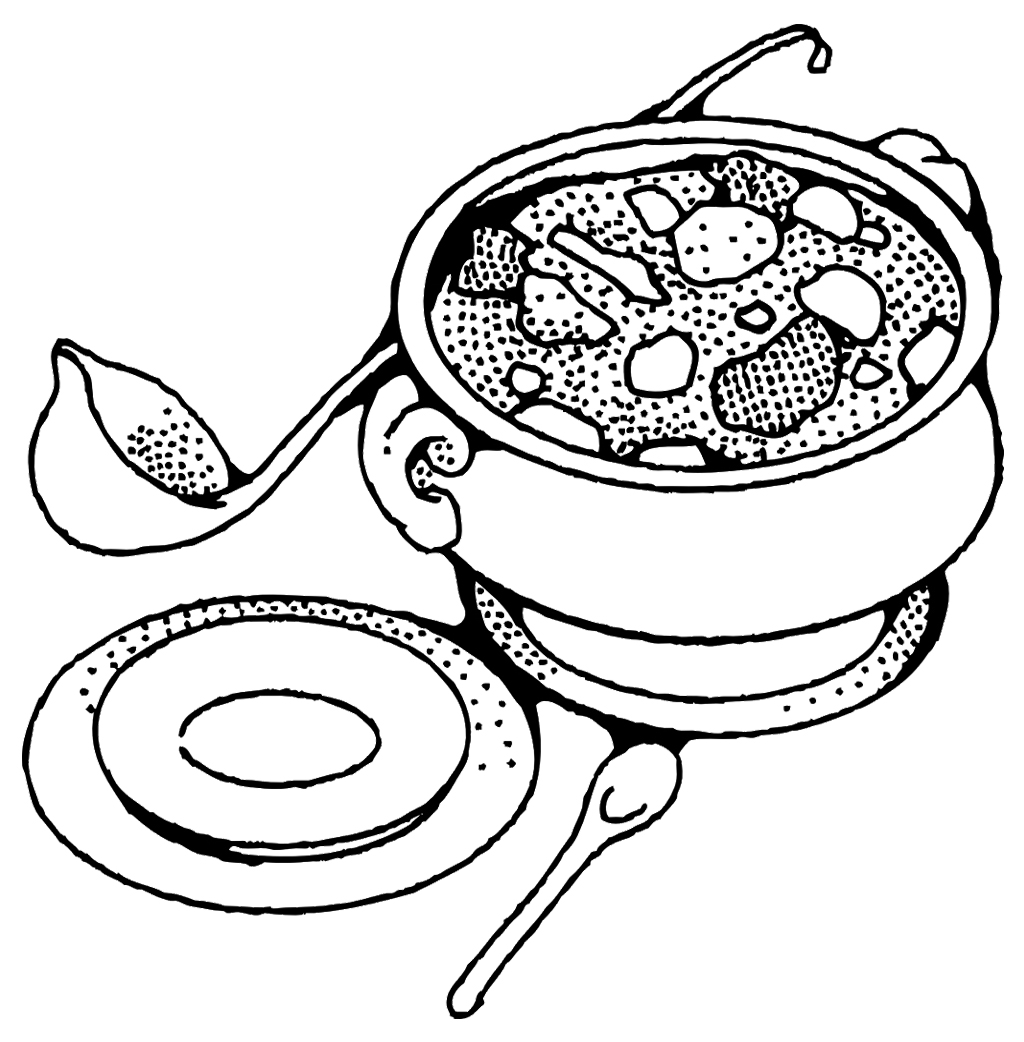 soup coloring pages - Master Coloring Pages
