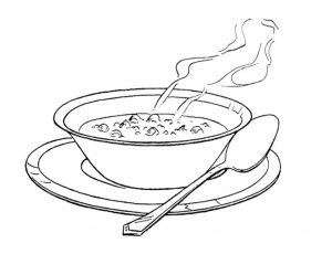 300x230 Soup Coloring Pages For Encourage