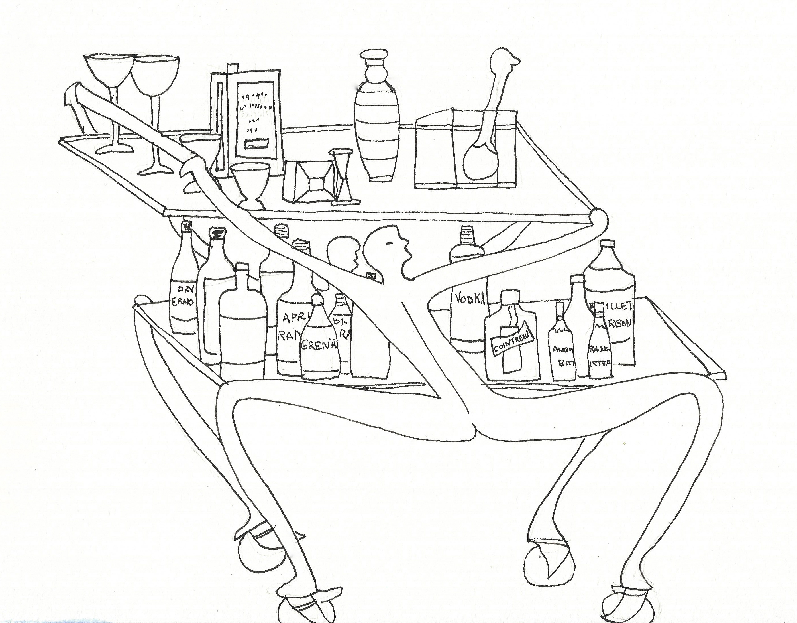2797x2185 Our Bar Cart By Designed By Carroll Boyes Of South Africa
