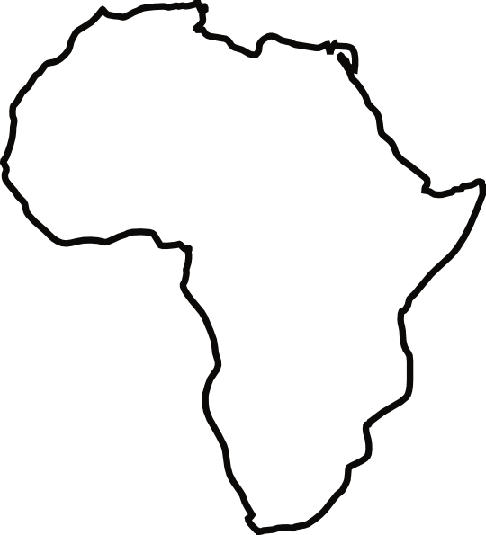 540x595 Africa Map Draw Africa Map Drawn
