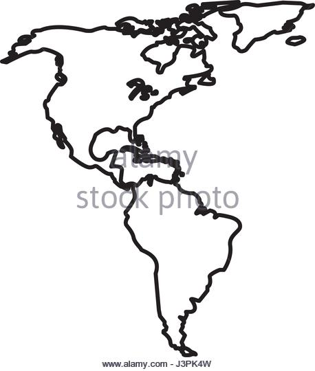 458x540 Map North South America Date Stock Photos Amp Map North South