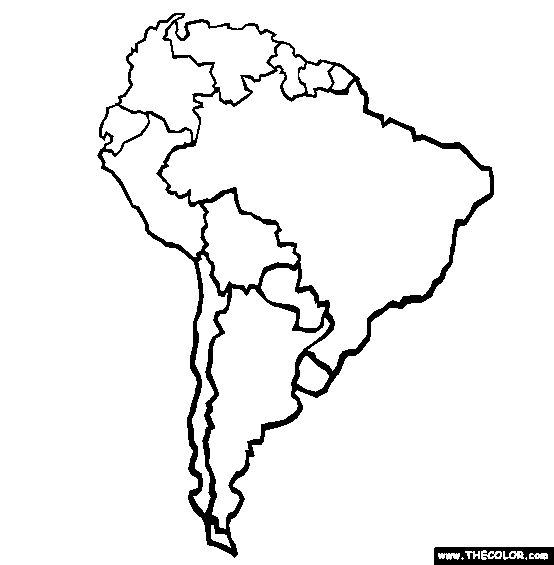554x565 South America Clipart Black And White