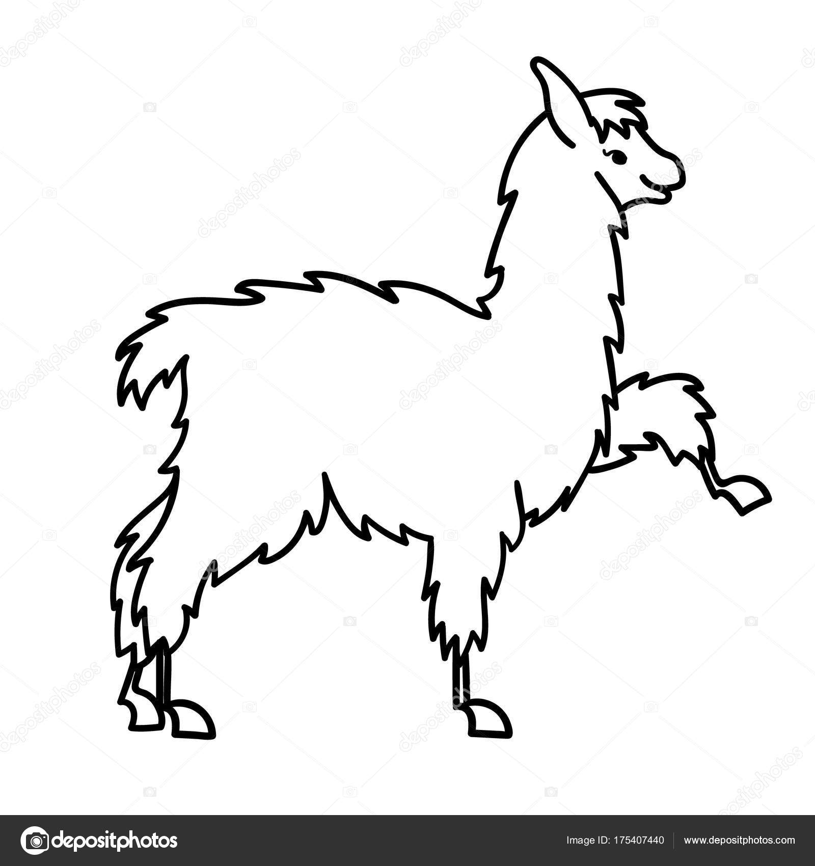 1600x1700 Vector Illustration Of Cute Character South America Lama