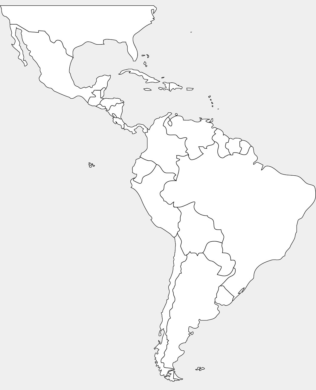 South America Map Drawing