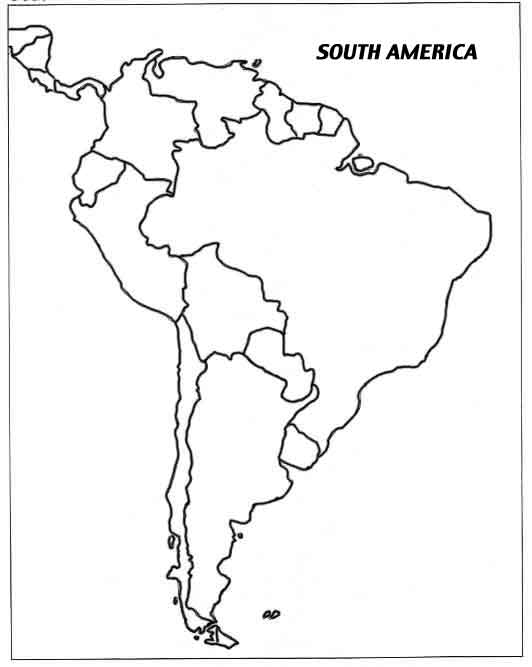 532x667 Image Result For South American Countries Outline Map Geography