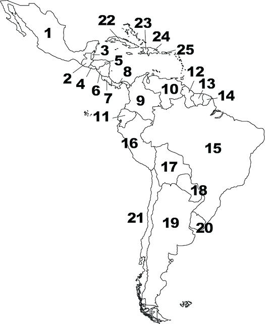 525x640 Latin America Map Quiz And South Rivers A Geography Latin America