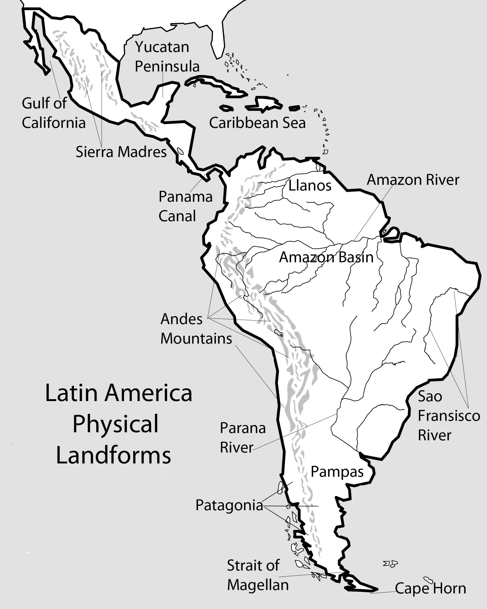 picture relating to Printable Map of South America identified as South The usa Map Drawing at  Absolutely free for