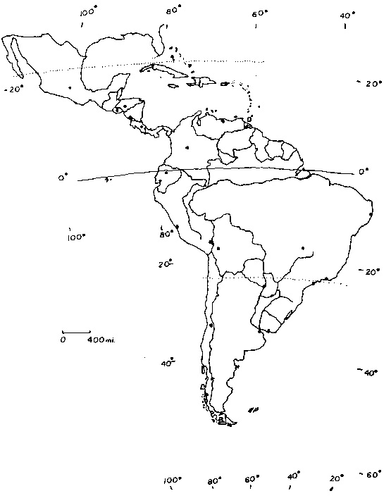 555x714 Of South America And Central America Blank