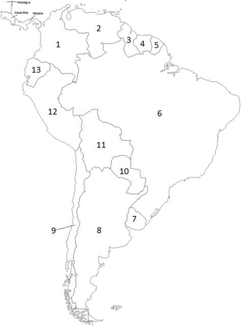 478x640 South America Political Map Quiz
