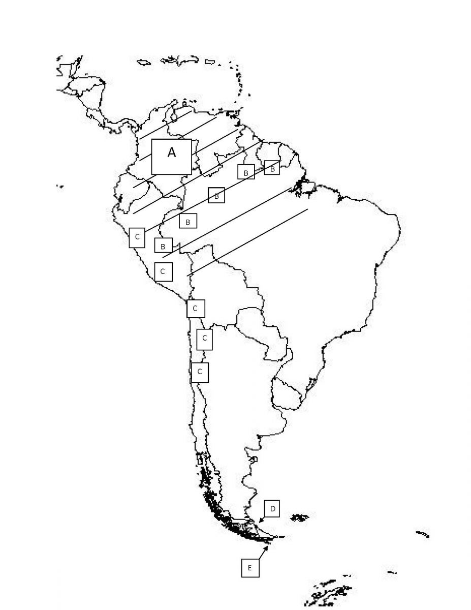 927x1200 South America Practice Map Test