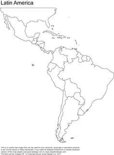 236x321 Blank Map Of Central And South America Printable Teaching Ideas