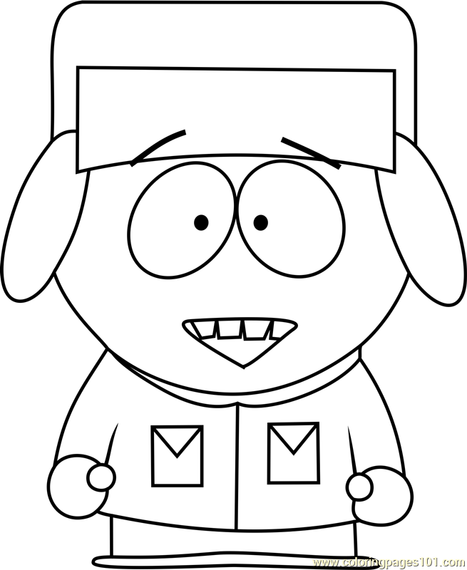 655x800 kyle broflovski from south park coloring page