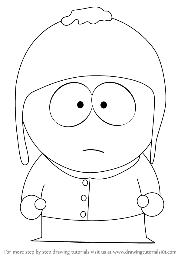 598x844 Learn How To Draw Craig Tucker From South Park (South Park) Step
