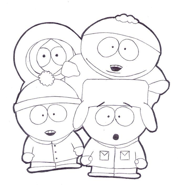 704x720 South Park Coloring Pages To Print Coloring Pages