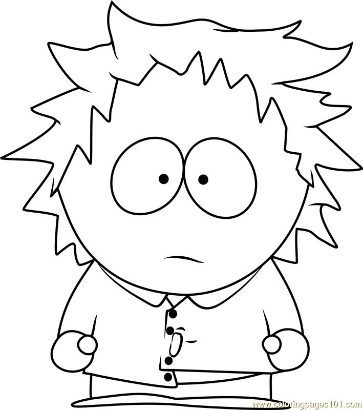 709x800 Tweek Tweak From South Park Coloring Page