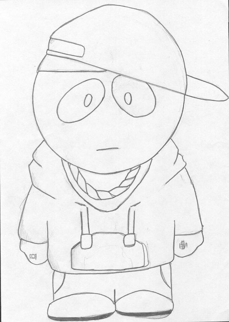754x1060 Kid Eminem South Park Style By Manga Strifer