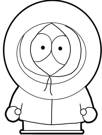 400x527 How To Draw Kenny From South Park With Easy Step By Step Drawing