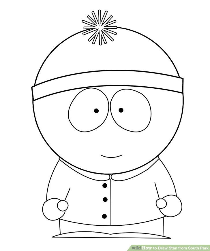 728x872 How To Draw Stan From South Park 9 Steps (With Pictures)