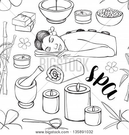 450x470 Spa Doodle Set Pattern Hand Drawn Vector Amp Photo Bigstock