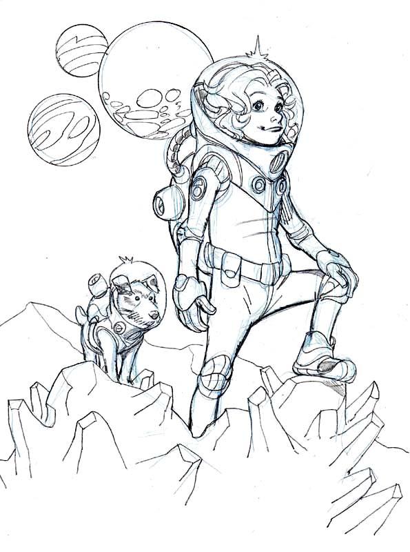 595x800 Space Girl By Wieringo