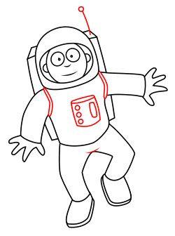 250x336 Astronaut Cartoon