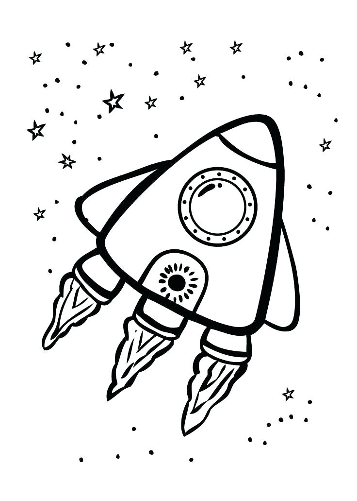 736x1031 Space Ship Coloring Page