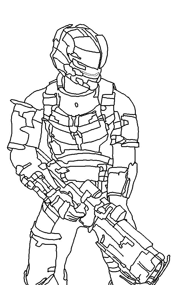 617x1000 Dead Space Drawing