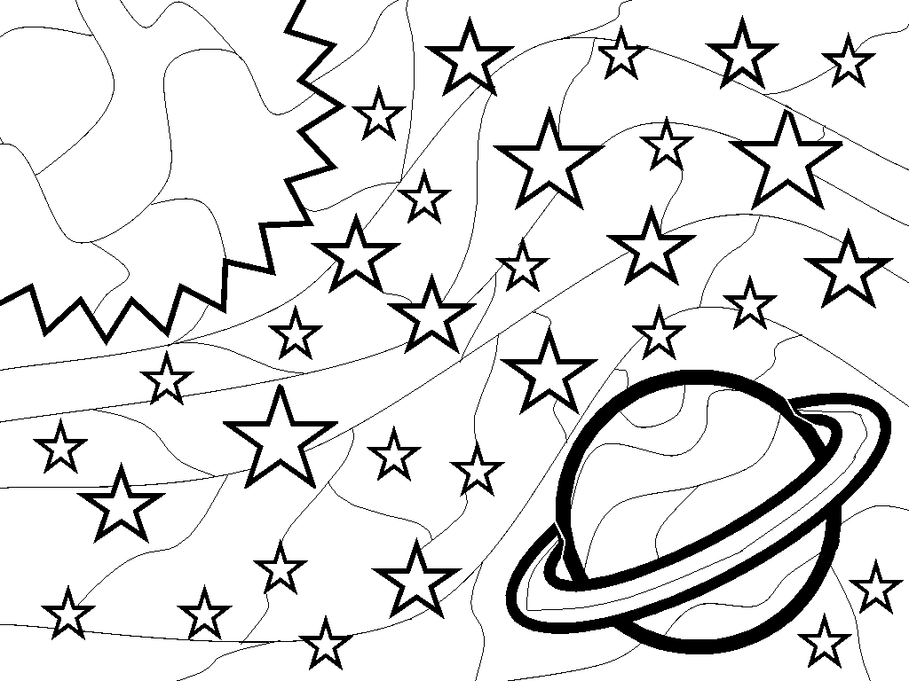1024x768 Space Drawing For Kids Outer Space Coloring Pages Outer Space