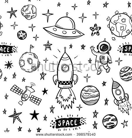 450x470 The Best Space Doodles Ideas On Space Drawings