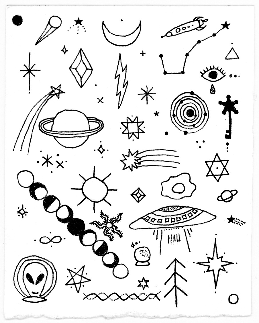 This is a picture of Clean Tumblr Space Drawing