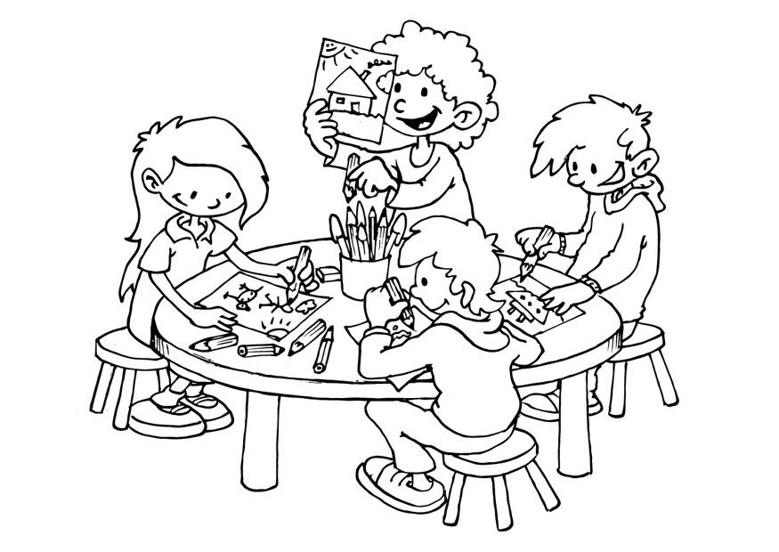 875x620 Coloring Page Drawing Space
