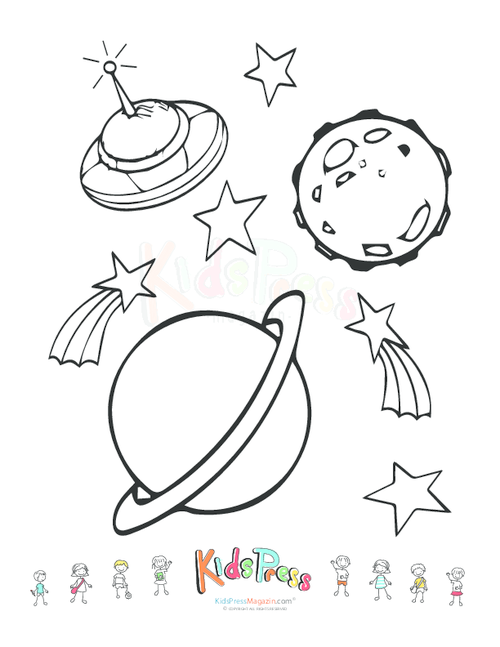 500x647 Nice Space Coloring Pages Ideas For Your Kids