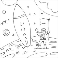 236x236 Space Coloring Pages