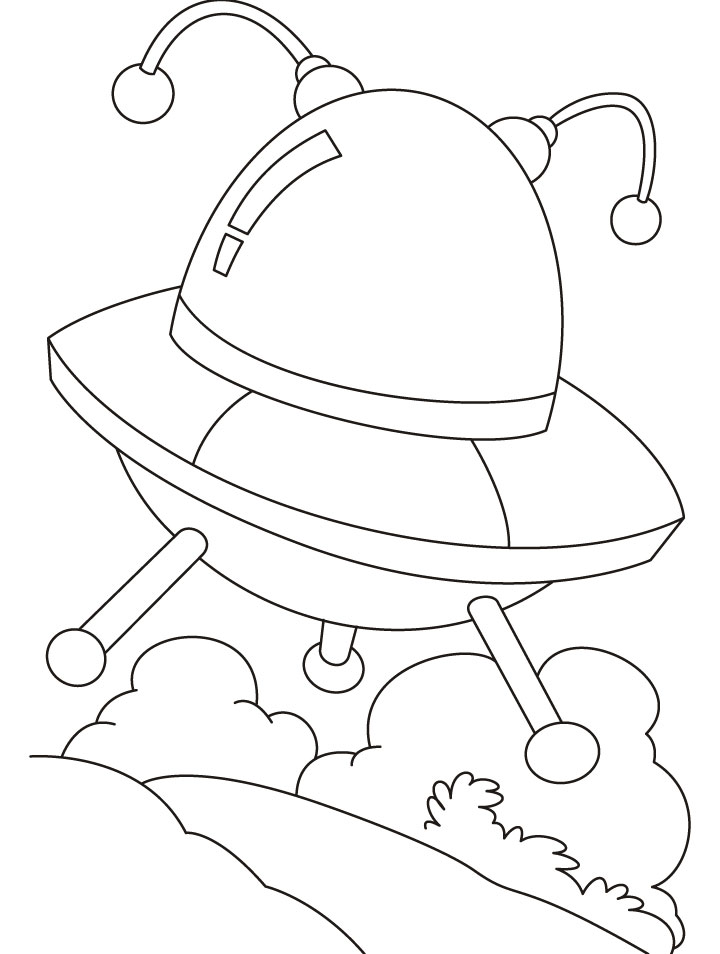 720x954 Ufo An Unidentified Flying Objects Coloring Pages Download