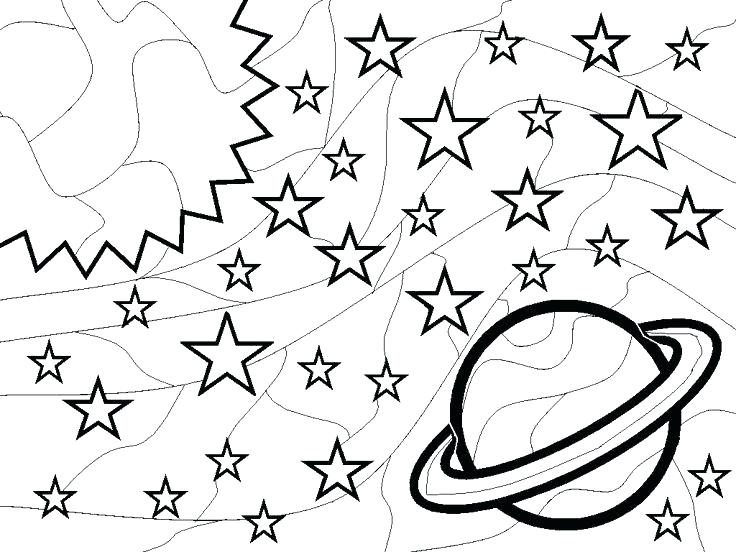 736x552 Complete Space Coloring Pages Print Astronomy Outer For Kids Ast