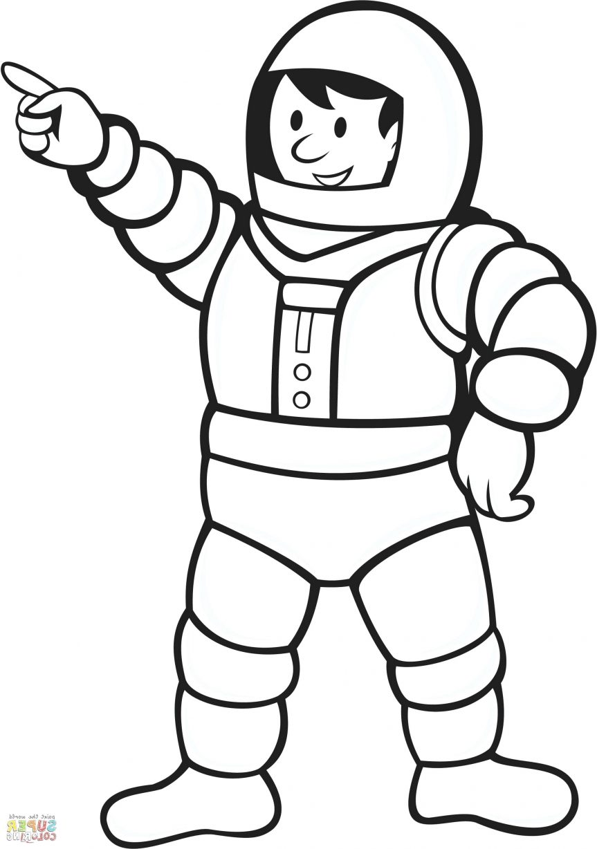 863x1228 Holiy Coloring Pages Astronaut Page E Bimbo Cartoon Space Helmet