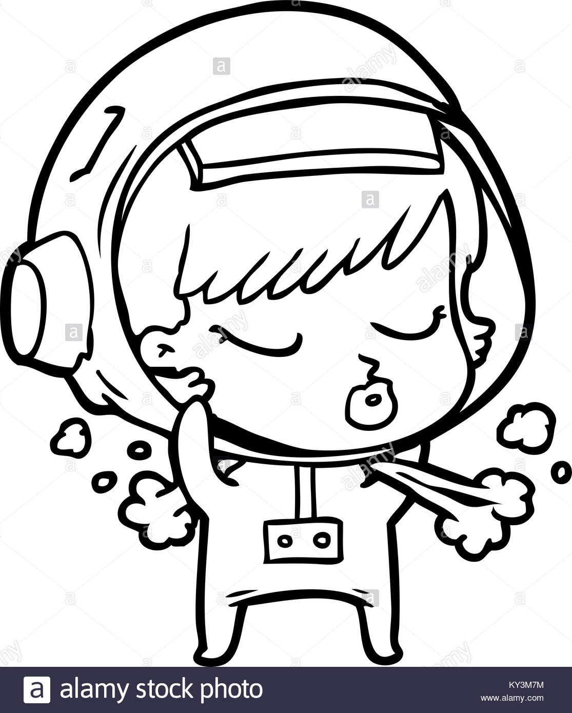 1115x1390 Cartoon Pretty Astronaut Girl Taking Off Space Helmet Stock Vector