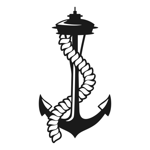 600x600 Seattle Space Needle Anchor Svg Cuttable Designs