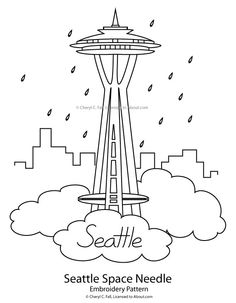 236x303 Space Needle And Ferry Clip Art Art Ideas Clip Art