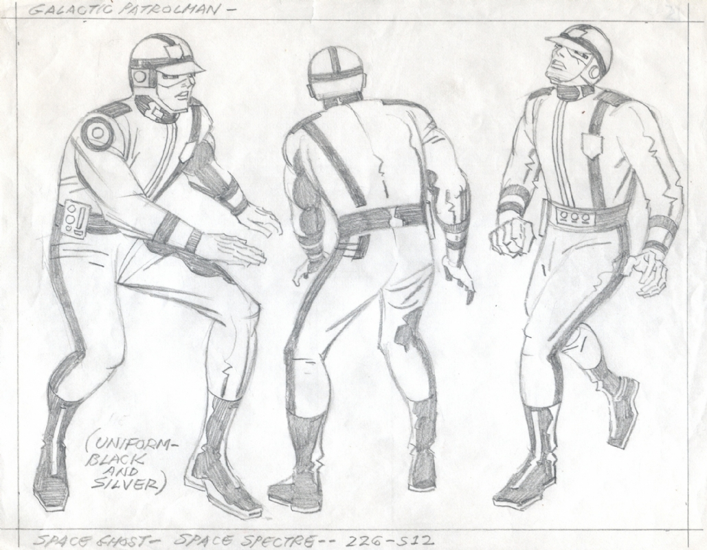 1029x800 Jack Kirby Space Ghost Galactic Patrolman Pencil Study, In Tommy