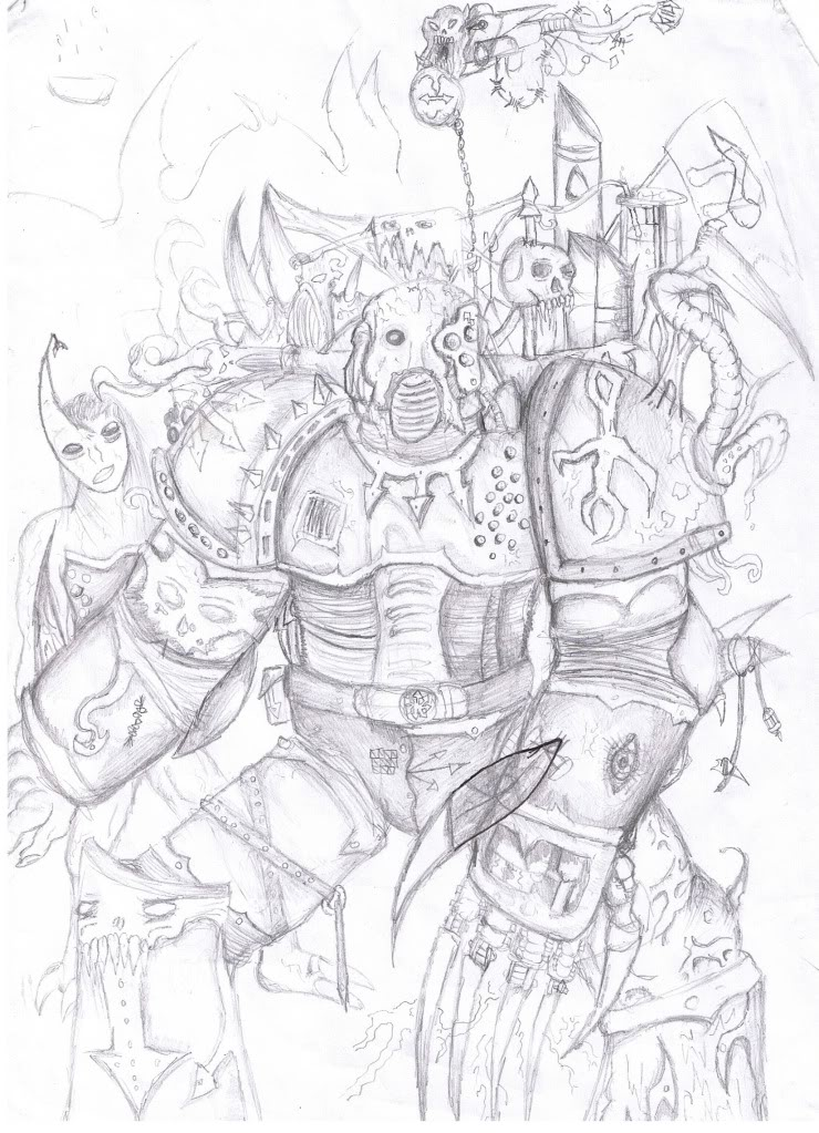 740x1023 My Pencil Chaos Space Marine