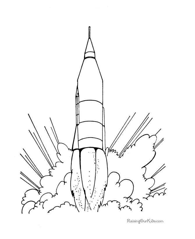 Space Rocket Drawing