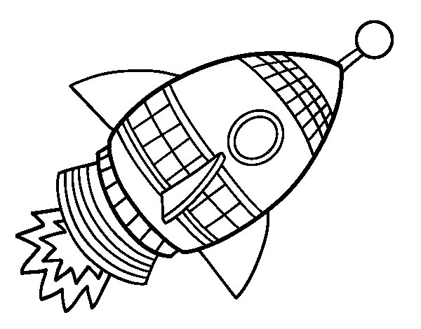 600x470 Space Rocket Coloring Page